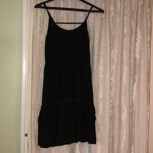 Little black boho dress